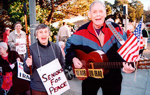 """SENIORS FOR PEACE beautifully portrays an engaging senior peace group whose intelligence, commitment, passion and dedication are truly inspirational. The film should be seen by Americans of all ages."""