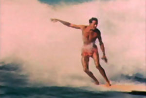 Surfer Woody Brown