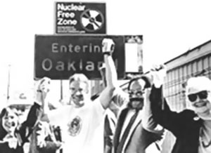 Victorious activists in Nuclear Free Oakland