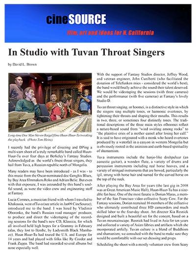 Huun-Huur Tu-cine-source-article by David L. Brown